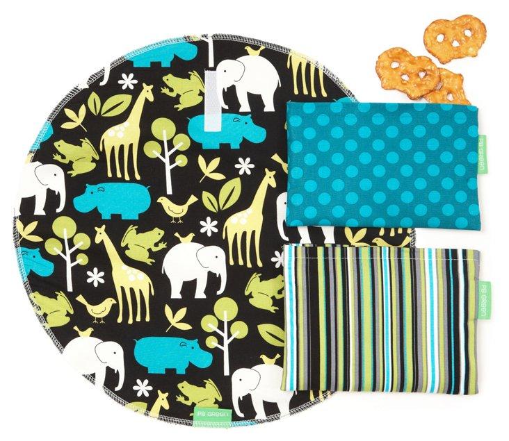 3-Piece Safari Stripes Wrap Set