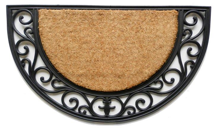 """1'6""""x2'6"""" Arch Doormat, Black"""