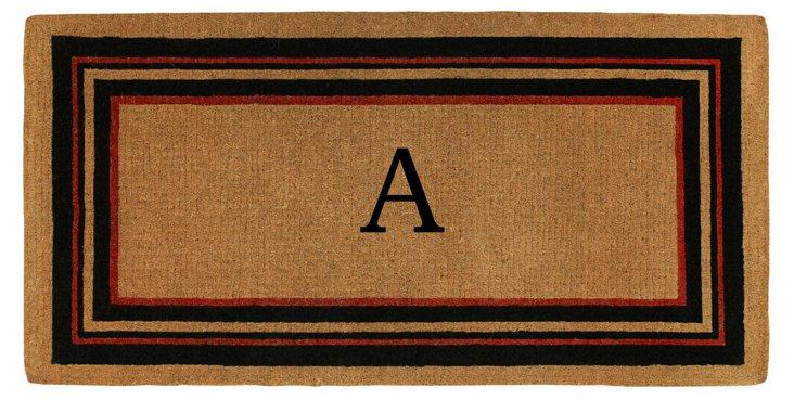 """1'6""""x2'6"""" Empire Monogram Mat, Multi"""