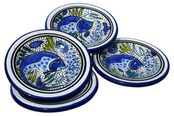 S/4 Aqua Fish Sauce Dishes
