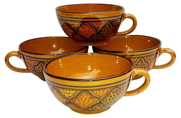 S/4 Honey Latte/Soup Mugs