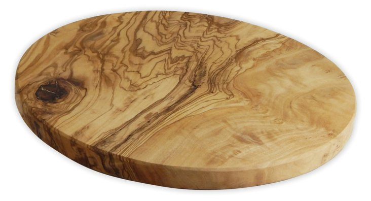 Olive-Wood Round Cheese Board