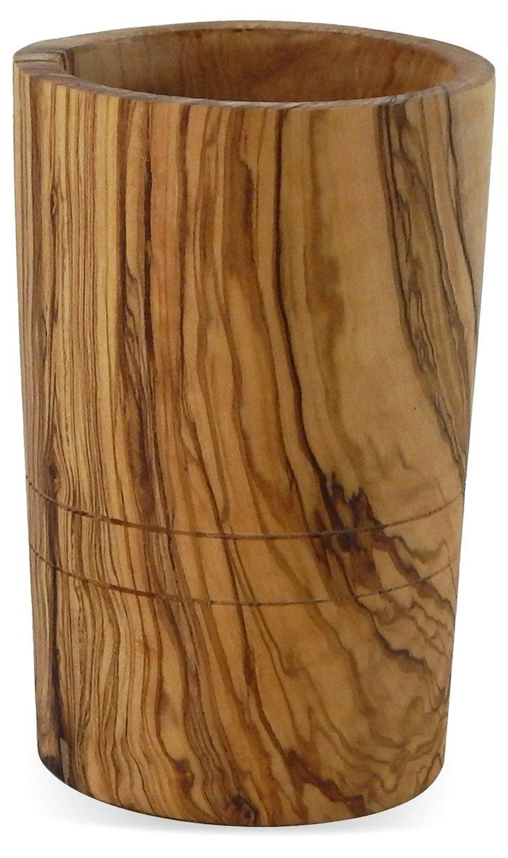 Olive Wood Utensil Holder