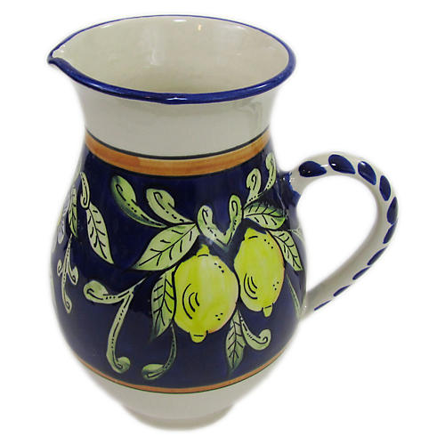 Citronique Pitcher, Deep Cobalt