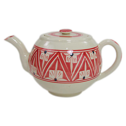 Nejma Teapot, Red/White