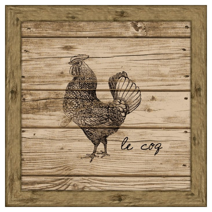 Rooster (Wood Planks)