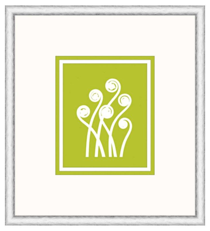 Graphic Stems In Pistachio I