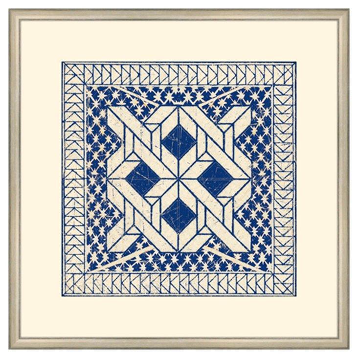 Small Indigo Tile I