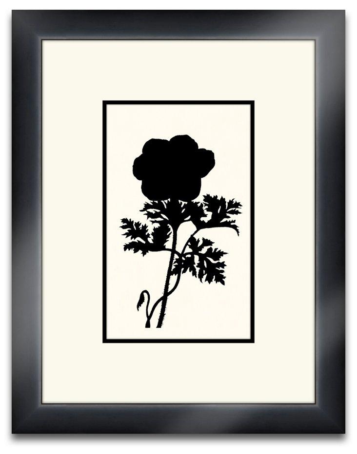 Floral Silhouette Black IV