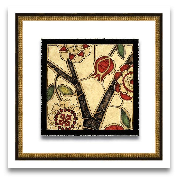 Floral Mosaic Print I