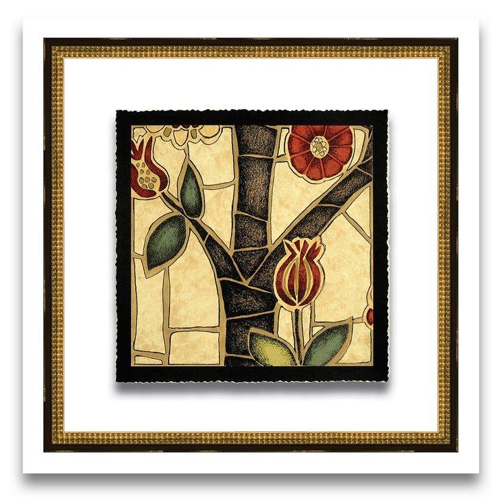 Floral Mosaic Print III