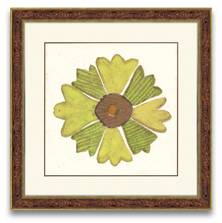 Green Flower Print II