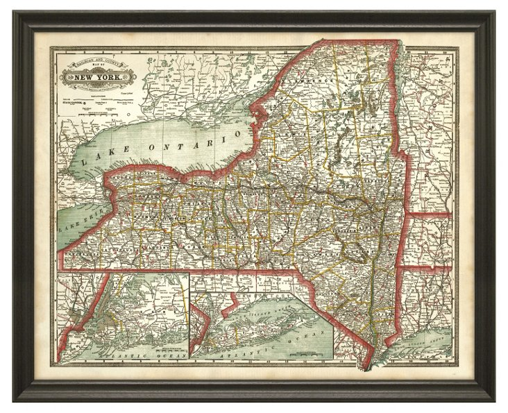 State Map of New York