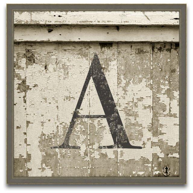 Monogram Wood Letter, Small