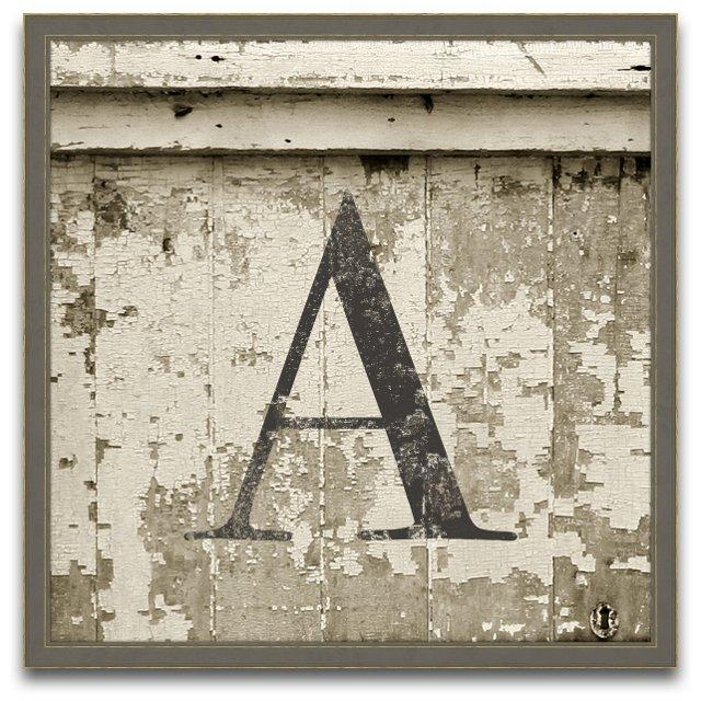 Monogram Wood Letter, Large