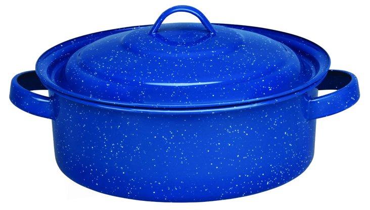 Dutch Oven w/ Lid, Blue