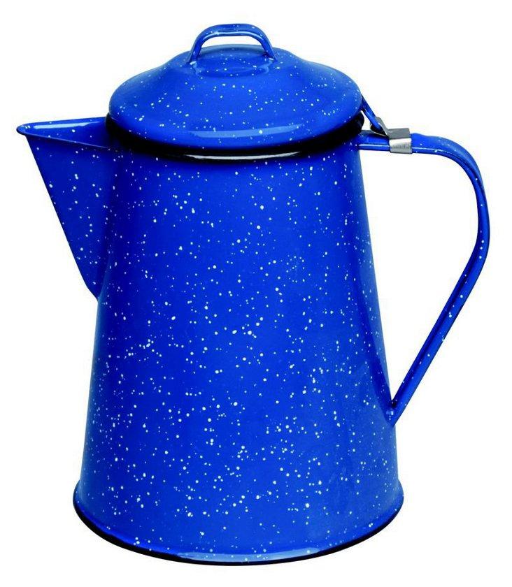Speckled Enamel Coffee Pot, Blue