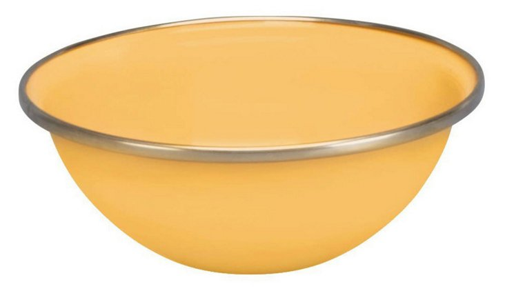 S/4 Steel Bowls, Yellow