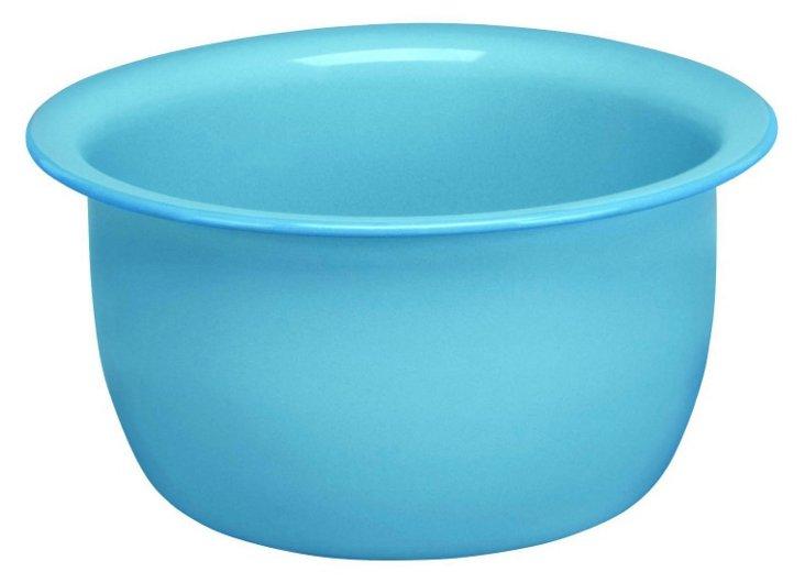 S/2 Enamel Steel Salad Bowls, Blue