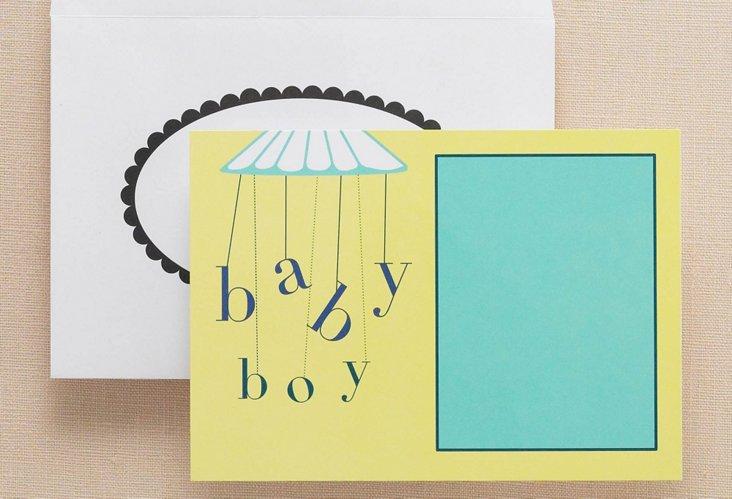 S/20 5x7 Baby Shower Flat Invitations