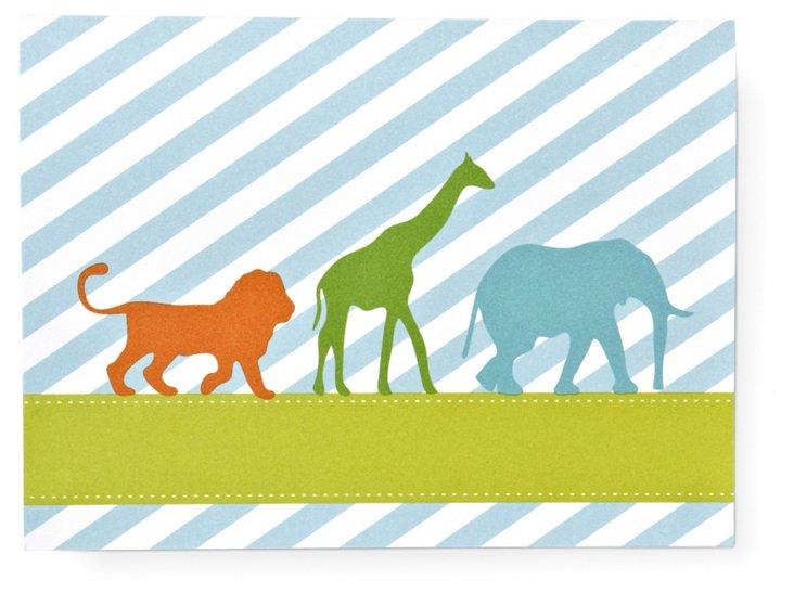Animal Silhouette Invitation, Pack of 20
