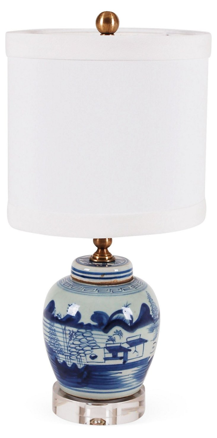 Gia Table Lamp, Blue Motif