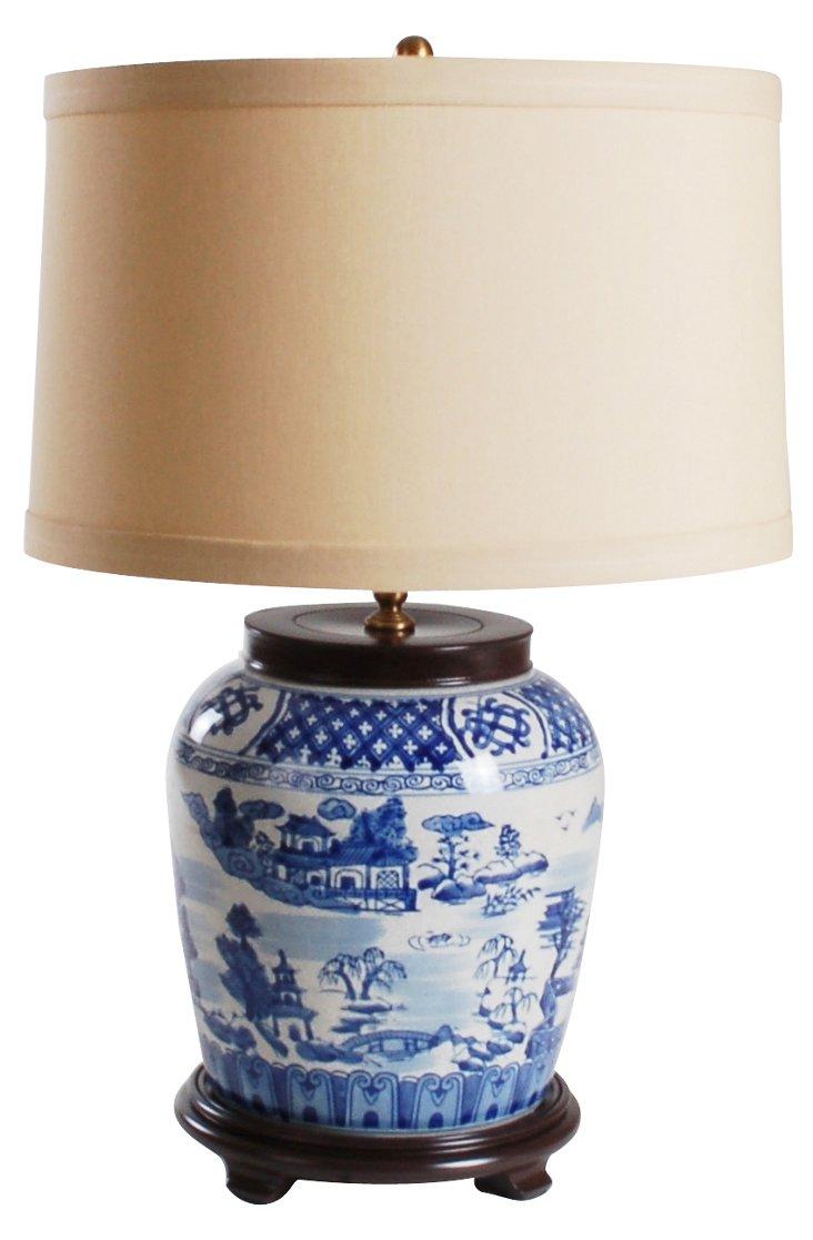 Miuccia Table Lamp, Tan Shade