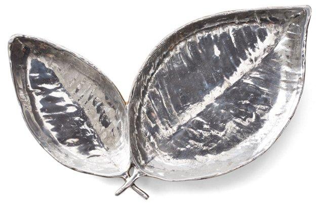 """12"""" Athena Appetizer Dish, Silver"""