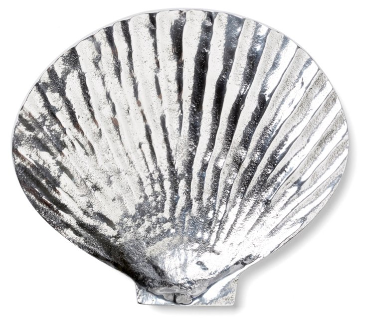 "7"" Clam Tray, Silver"