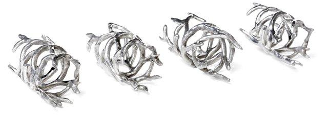 S/4 Coral Napkin Rings