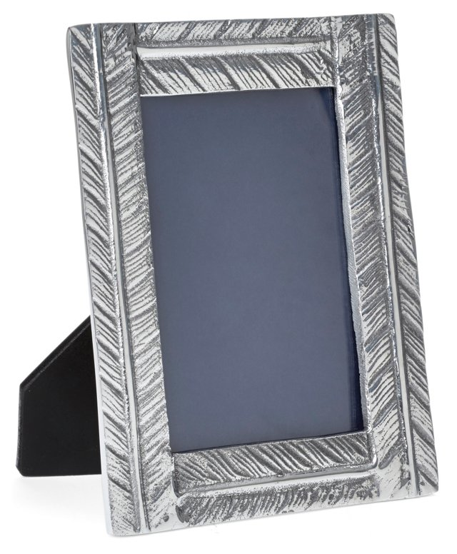 Feather Frame 5x7, Silver