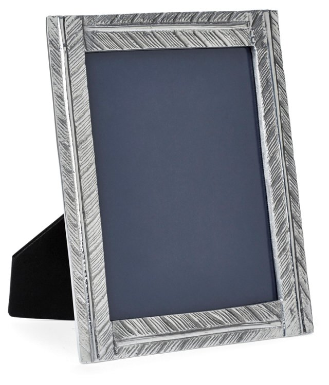 Feather Frame 8x10, Silver