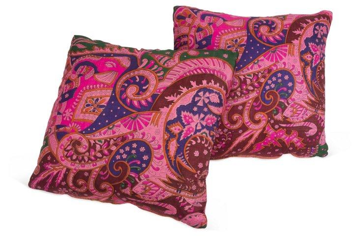 Indie Silk Pillows, Pair II