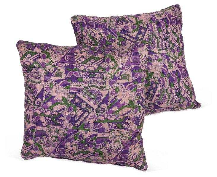 Indie Silk Pillows, Pair III