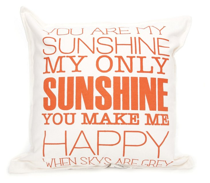 Sunshine 18x18 Pillow, Natural