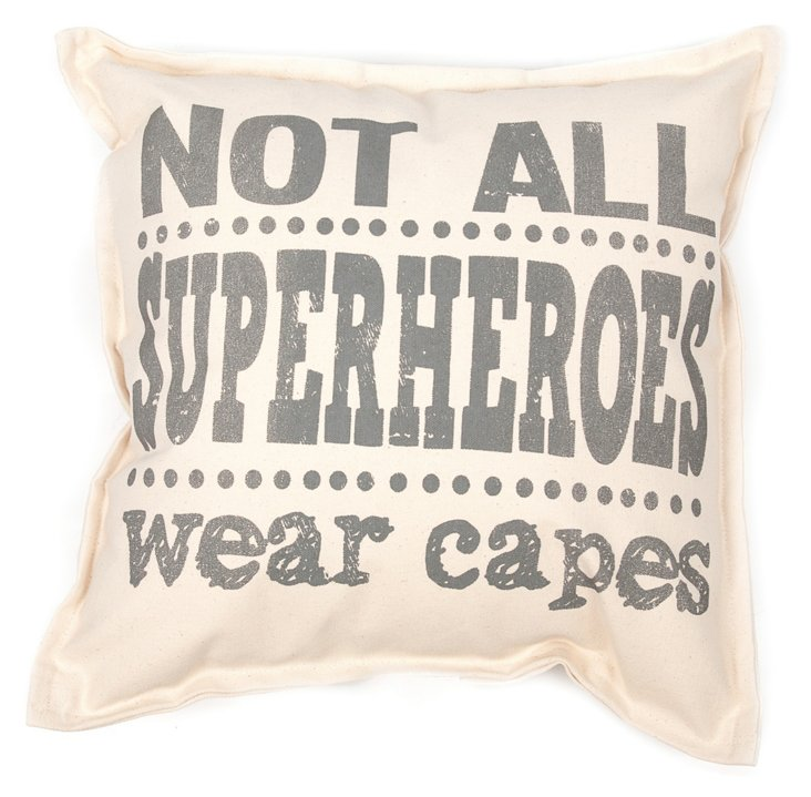 Wear Capes 18x18 Pillow, Natural