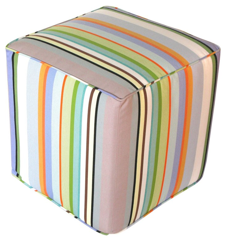 Colombe Luxe Outdoor Pouf, Multi
