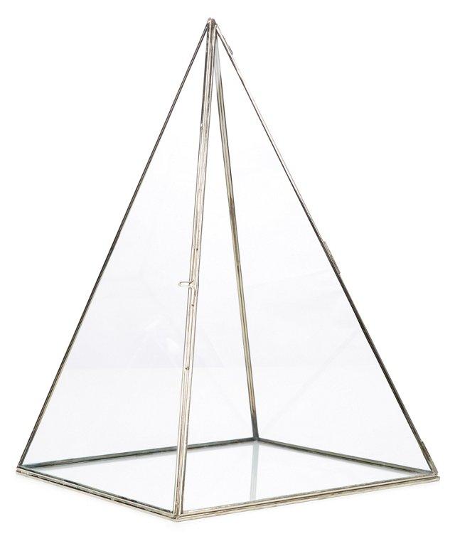 "17"" Chiaro Pyramid Display Case, Clear"