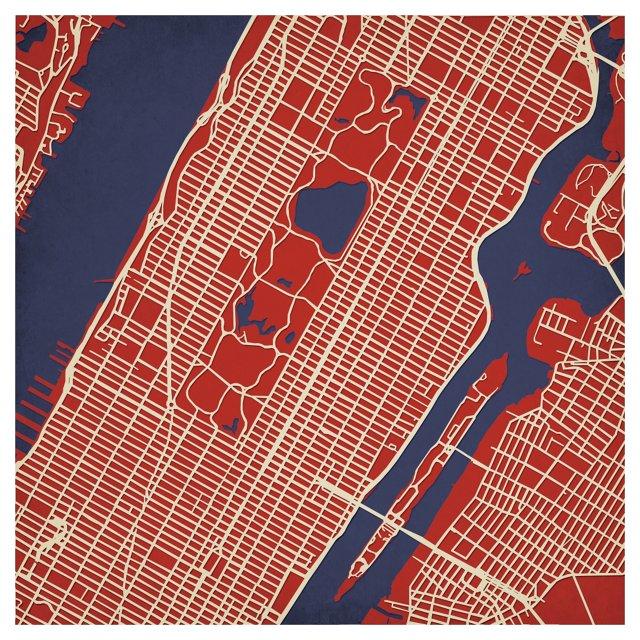 Map of Upper Manhattan, NY