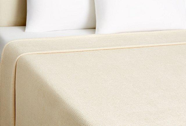 Seedstitch Cotton Blanket, Natural