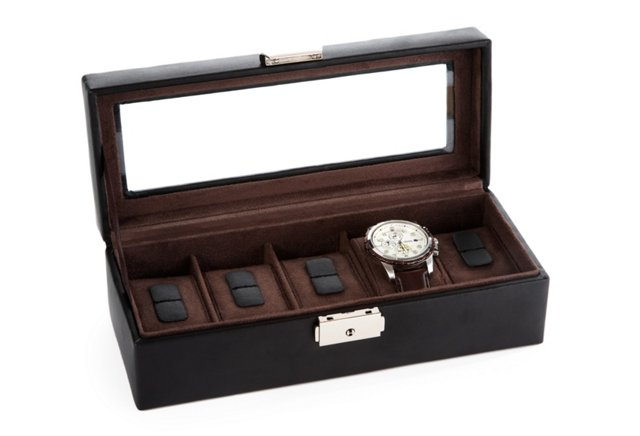 Leather Watch Box, Small
