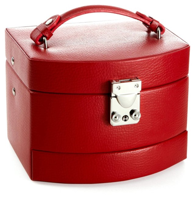 Laura Expandable Jewelry Box, Red