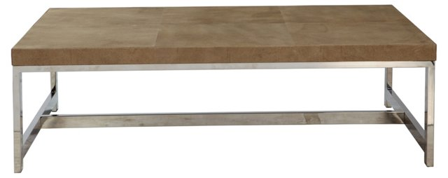 Auden Coffee Table, Shagreen Leather