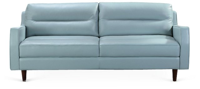 "Belle 77"" Sofa, Blue"