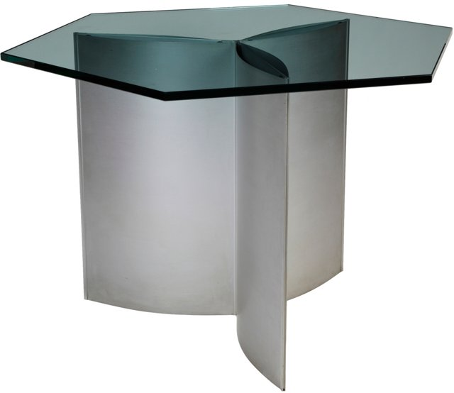 Kim Moltzer Hexagonal Glass-Top Table