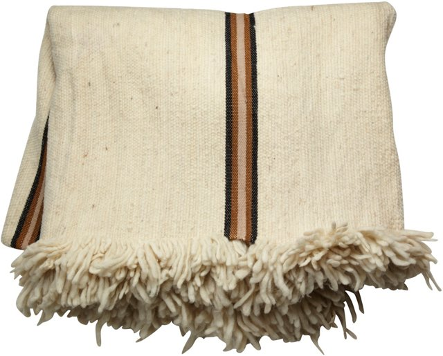 Algerian Cream Wool Blanket
