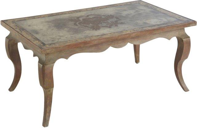 Small Verre Églomisé Table