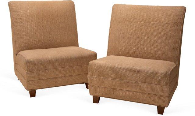Eugene Schoen Slipper Chairs, Pair