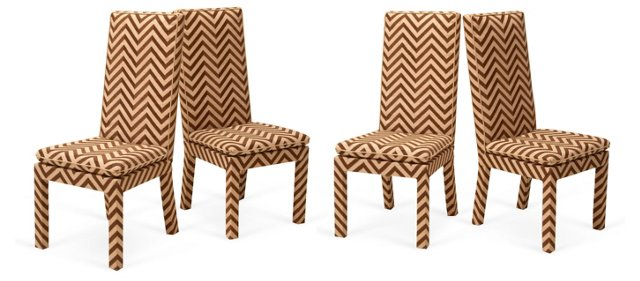 1970s Side Chairs, Set of 4