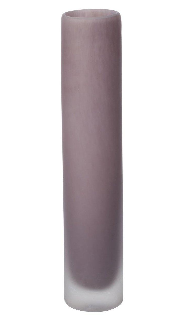 Sanded Lavender Vase, Medium